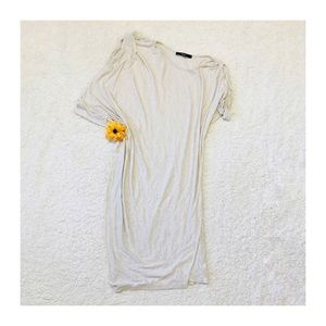 Anthropologie Amadi White Linen Blend Tunic Med.